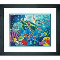 """Набор для рисования красками по номерам """"Морские черепахи//Sea Turtles"""" DIMENSIONS"""