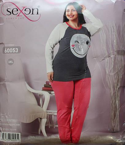 Пижама женская турецкая SEXEN (Батал) 60053, фото 2