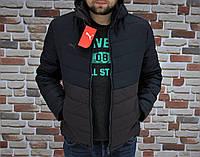 Мужская весенняя куртка чёрно-коричневая