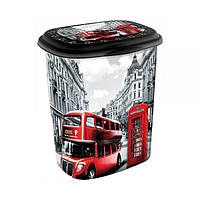 """Корзина для белья 45 л. с рисунком Лондон автобус """"ELIF"""""""