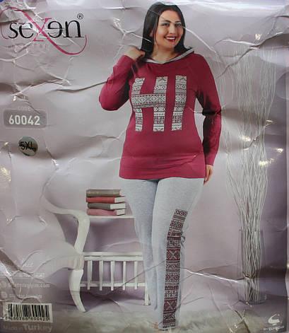 Пижама женская турецкая SEXEN (Батал) 60042, фото 2