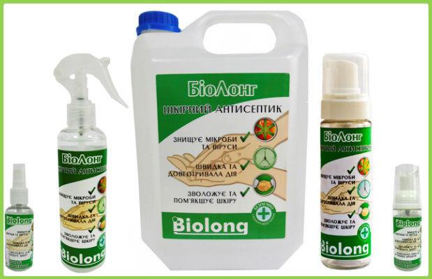 Дезинфицирующие жидкости для маникюрных инструментов биолонг