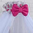 Комплект постельного белья Asik Сердечки амарантового цвета на сером 8 предметов (8-225), фото 3