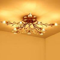 LightMyself YQ6626-10 10 филиалов G9 базовый потолочный светильник потолочные люстры Медный