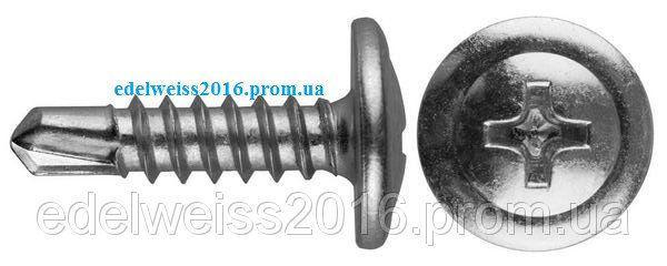 Прессшайба с буром Белая 4,2х41 (500 шт/упак.)