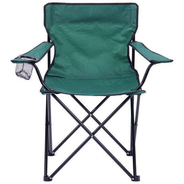 Стул раскладной туристический с подстаканником (кресло для пляжа)