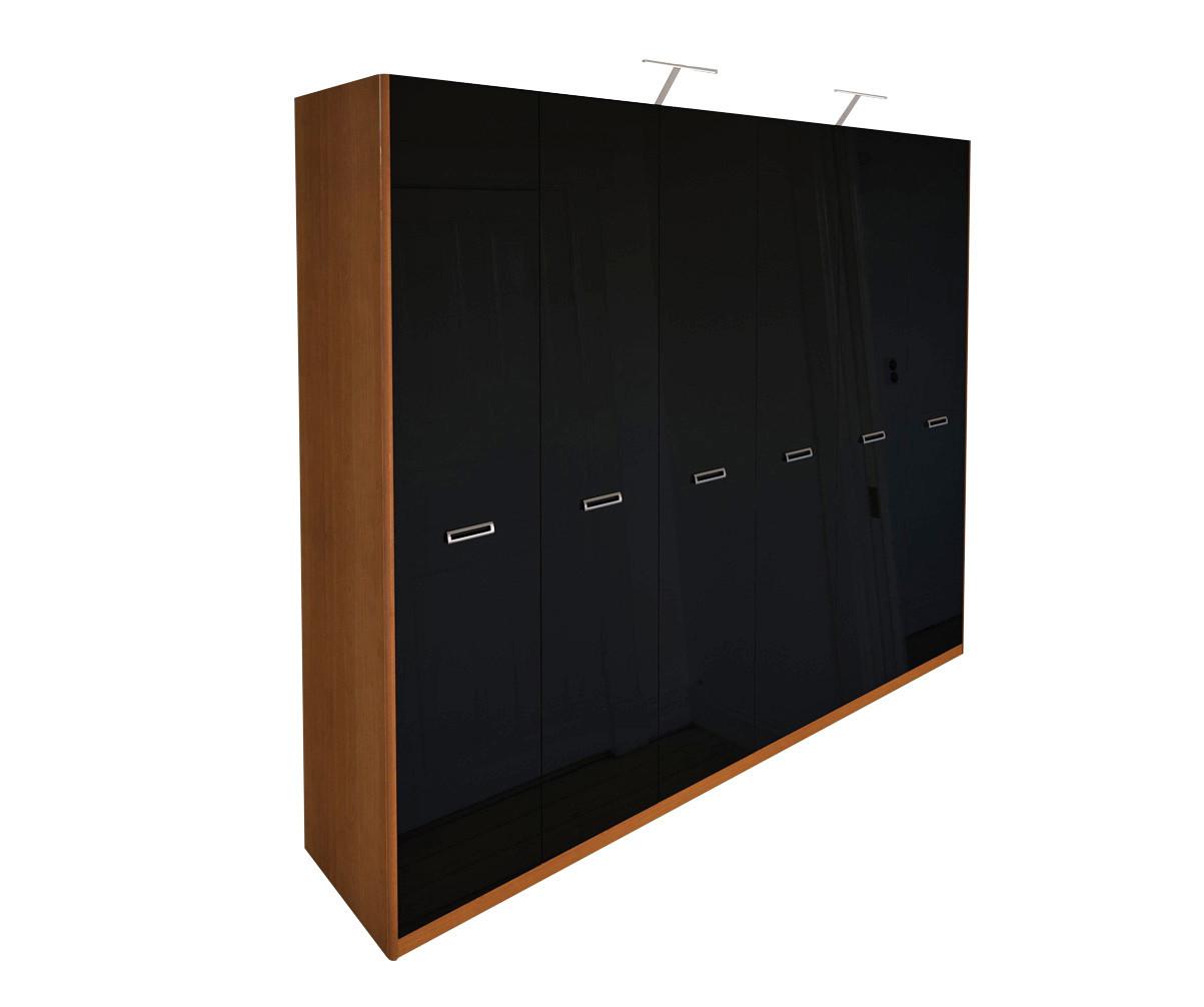 Шафа (шкаф) з ДСП/МДФ в спальню/вітальню/дитячу Белла 6Д без дзеркал чорна Миро-Марк
