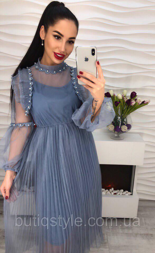 5596562b852 Очень красивое платье шифон с дорогим кружевом только молоко