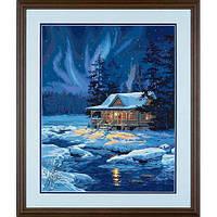 """Набор для рисования красками по номерам """"Лунный домик//Moonlit Cabin"""" DIMENSIONS"""