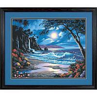 "Набор для рисования красками по номерам ""Лунный рай//Moonlit Paradise"" DIMENSIONS"