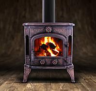 Чугунная печь-камин MERLIN 11kW