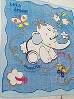 Дитячий махровий плед-одіяло слоник