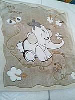 Детское махровое  плед-одеяло слоник