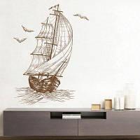 Эскиз Парусного Декоративные Виниловые Наклейки Стены 40х60 см