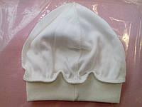 Однотонная шапочка -колпак из интерлока без завязок для новорожденных