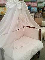 Набор в кроватку для новорожденных ''''Восторг'''' белый