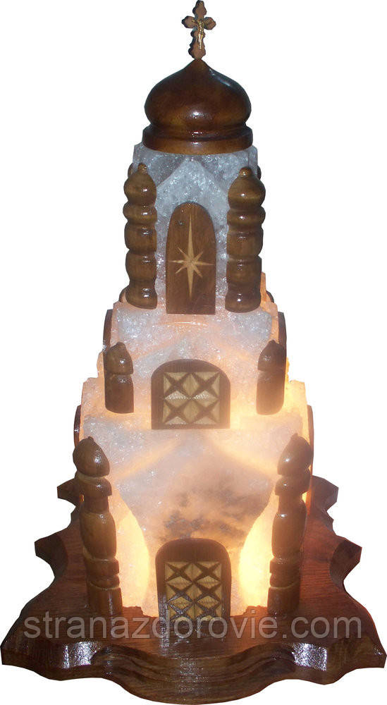 Соляная лампа «церковь» 18 кг цветная лампа
