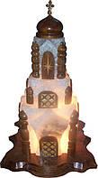Соляная лампа «церковь» 18 кг цветная лампа, фото 1