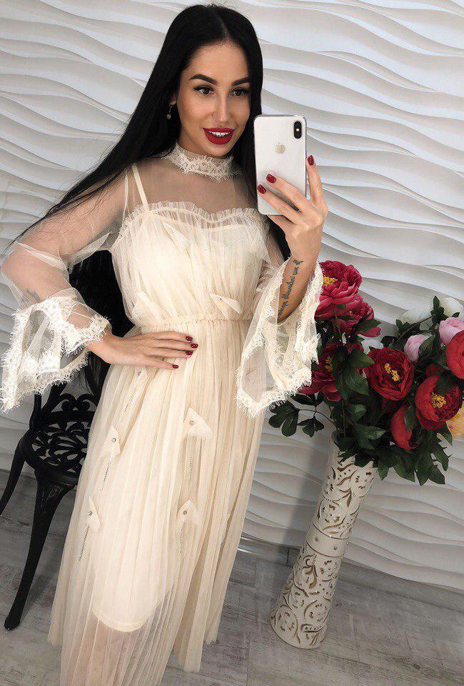 Красивое легкое и воздушное платье из шифона