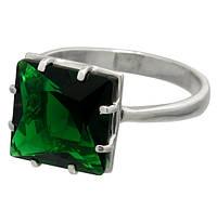 Серебряное кольцо Джулия с большим квадратным камнем 12х12мм / Mz 022к-02
