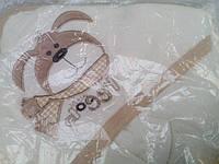 Полотенце с капюшоном Собачка для купания новорожденных