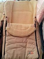 Конверт в санки и коляску на натуральной овчине