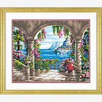 """Набор для рисования красками по номерам """"Цветочный дворик//Floral Patio"""" DIMENSIONS"""