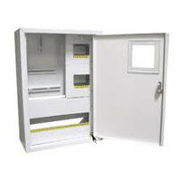 Шкаф монтажный распределительный внутренней установки с замком под 3Ф  счетчик Лоза ШМР-3Ф-24В