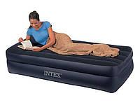 Надувная кровать со встроенным насосом Intex 64122 99х191х42см