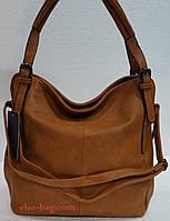 Рыжая мягкая женская сумка Eleganse