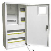 Шкаф монтажный распределительный наружной установки с замком под 3Ф электронный счетчик Лоза ШМР-3Фэ-36Н
