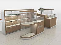 Стеллажи островные, торговая мебель изготовить
