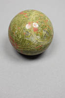 Шар сувенир из натурального камня Гелиотроп d-5см