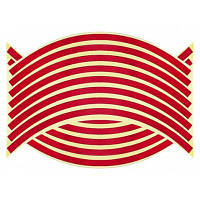 Наклейка для автомобильных колес мотоциклов-18 шт Красный