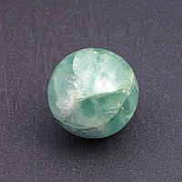 Шар сувенир из натурального камня Флюорит d-2,9(+-)см зеленый