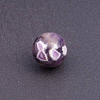 Шар сувенир из натурального камня Аметист d-2см