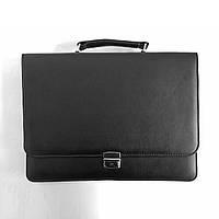 Портфель для документов малый 7120, иск.кожа., черн