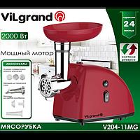 Электромясорубка  VILGRAND V204-11MG (2000Вт, реверс, соковыж.)