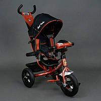 Детский трехколёсный велосипед Бест Трайк Best Trike 6588B бронзовый с фарой. Резиновые колёса.
