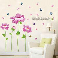 Пион Цветок Декоративные Виниловые Наклейки Стены 60*90 CM