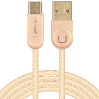 USAMS Type-C телефонный кабель из сплава цинка роскошный золотой цвет