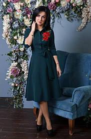 Женское платье с розочкой