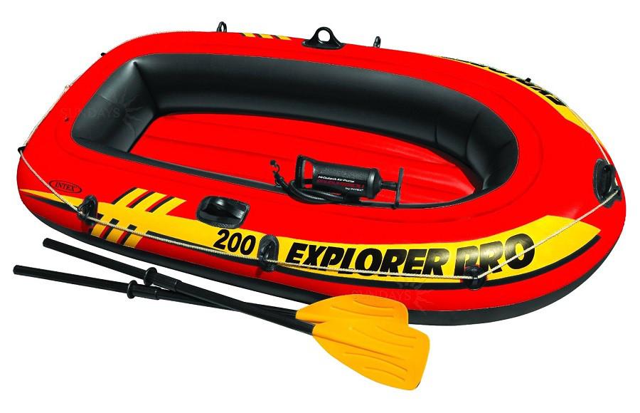 Лодка надувная Intex 58357 Explorer 200 Pro двухместная 196 х 102 х 33 см