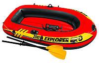 Лодка надувная Intex 58357 Explorer 200 Pro двухместная 196 х 102 х 33 см, фото 1