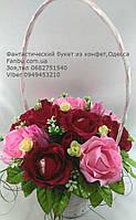 """Школьная линейка,букет роз из конфет """"Восточная сказка""""№11+4"""