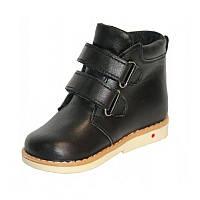Ботинки детские чёрные из натуральной кожи на байке весенне осенние fe94f45baba58
