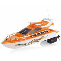 Модель дистанционного управления C101A лодка корабль пластиковая игрушка оранжевый+белый