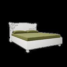Ліжко з ДСП/МДФ в спальню Богема 1,6х2,0 м'яка спинка з каркасом Миро-Марк