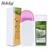 ЛИДДИ Электрический нагреватель воска для депиляции бумажные полоски для удаления волос WAX+Aлиэ+бумага+Европейская вилка