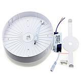 Накладной светодиодный светильник 24w 4000K круг, фото 2
